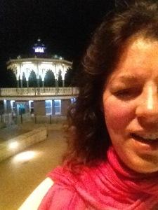 Claire Smith's selfie in Brighton last night