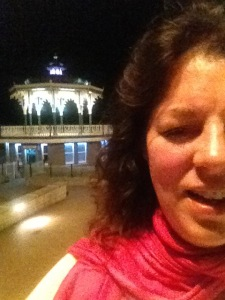 Claire Smith's selfie in Brighton last night