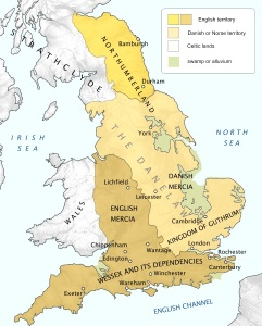 The Danelaw and Northumberland held power in 878