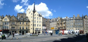Part of the Grassmarket in Edinburgh - once a seething mass of whale meat (Photograph by Kim Traynor