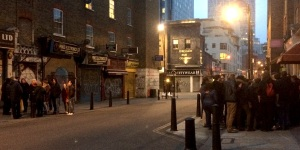 Two Jack The Ripper tours on opposite sides of the same street last night