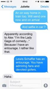 Texts flew through cyberspace last night