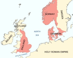 King Canute's domains in 1016_1035