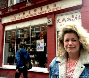 Louise in London's Soho last week