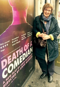Sandra Smith outside soho Theatre yesterday