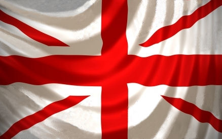 The Union flag without the Scottish St Andrew element in it