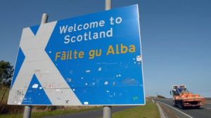 Welcome to Scotland - but maybe the border might move?