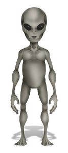 A grey alien, as depicted by Wikipedia