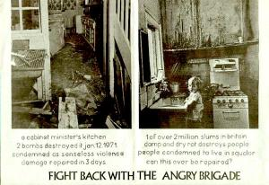 Photo (left) of bombing at the Employment Secretary's home