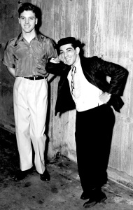 Burt Lancaster (left) & Nick Cravat - billed as Lang and Cravat - in Federal Theatre Project Circus (1935–1938)