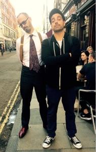 Chris Dangerfield & Matt Roper outside Bar Italia