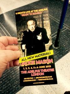 Jackie Mason show flyer