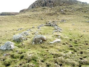 Uamh Rìgh Lochlainn, grave of the king of Norway, on Canna (Photograph by Peter Van den Bossche)