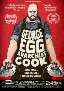 George's Fringe poster for Anarchist Cook