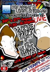 Ben and Lenny live at the Camden Fringe