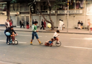 Scooters in Bogota, 1983