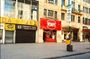 One of four Wimpy Bars in what seemed Bogota's main street