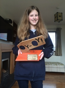 Kate Talbot with her 2014 Cunning Stunt Award