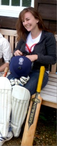 Laura Lexx at the Comedians' Cricket Match in 2011