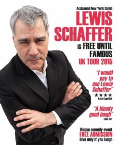 Lewis Schaffer's tour poster