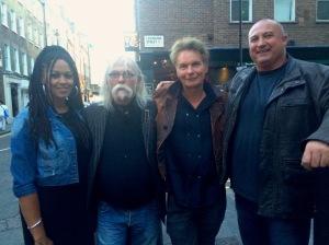 After the screening (L-R) Sheri Sinclair, d Derick 'The Draw' Hussey, Julien Temple & Michael Fawcett