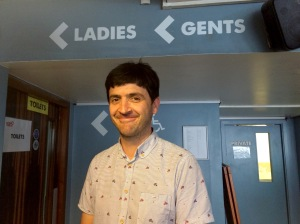 Spencer Jones - not a toilet act, despite the signs