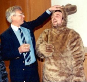 LWT Head of Entertainment Alan Boyd with Danny Greenstone