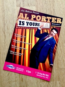 Al Porter strikes camp in Edinburgh