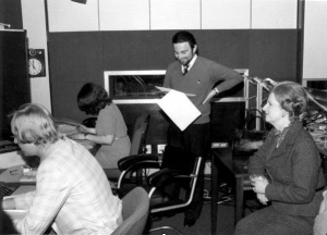 Danny produces BBC World Service show Old Took's Almanac, while by Prime Minister Margaret Thatcher (right) watches