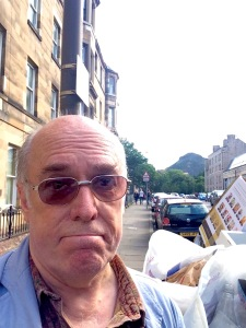 Edinburgh: Arthur's Seat in the background + some occasional rubbish in the foreground