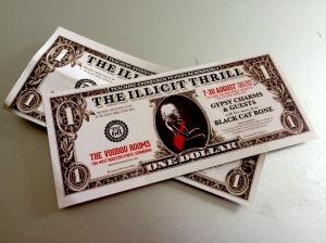 Illicit Thrill dollar bills