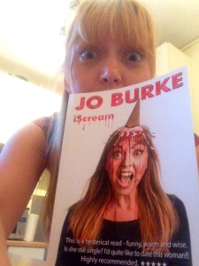 Jo Burke with her physical book