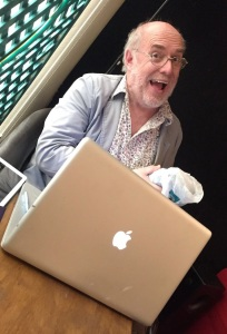 John Fleming bearded in his den (Photograph by Nick Awde)