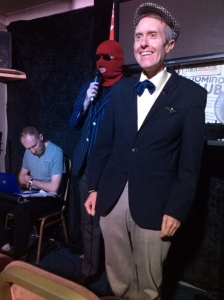 (R-L) Johnny Sorrow, Richard Drake and possibly deaf sound man