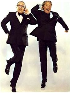 Morecambe and Wise - akin to World War II