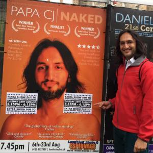 Papa CJ with publicity for his extra show