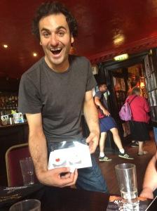 Patrick Monahan - a hug and a cake