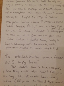 Ransom letter, page 2