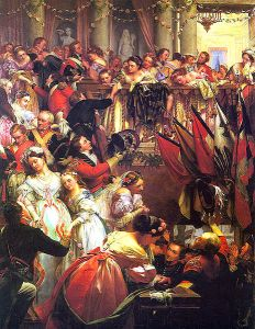 The Duchess of Richmond's ball depicted by Henry O'Neil (1868)