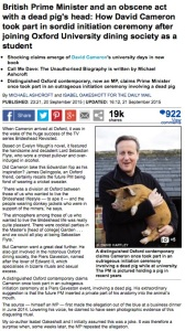 Yesterday's Daily Mail story online