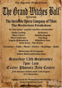 This Saturday - the grand witches Ball