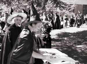 A queue of witches in 2014, signing a petition to get the executed women pardoned (Photo by Jim Bachelier-Moore)