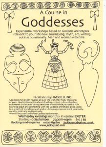 Jackie runs experiential workshops in Goddesses