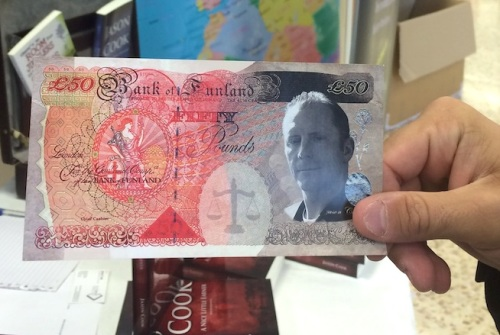 Jason Cook's personalised £50 banknotes - yours for £2