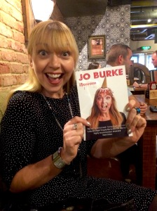 Jo Burke is delighted with her book