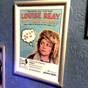 Louise Reay's show poster at this year's Brighton Fringe