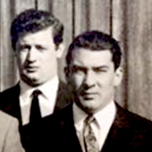 Micky Fawcett (left) with Ronnie Kray