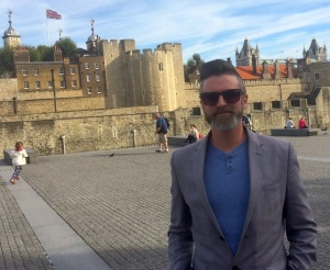 Paul Boyd at the Tower of London yesterday