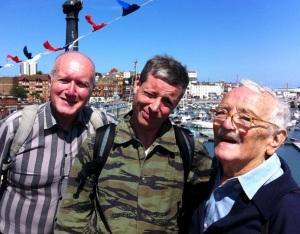 (L-R) David McGillivray, Ethan Reid and Peter de Rome