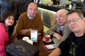 At St James's Theatre yesterday (left-right) Hannah Eidinow, Norman Baker, Christopher Richardson and Nick Awde